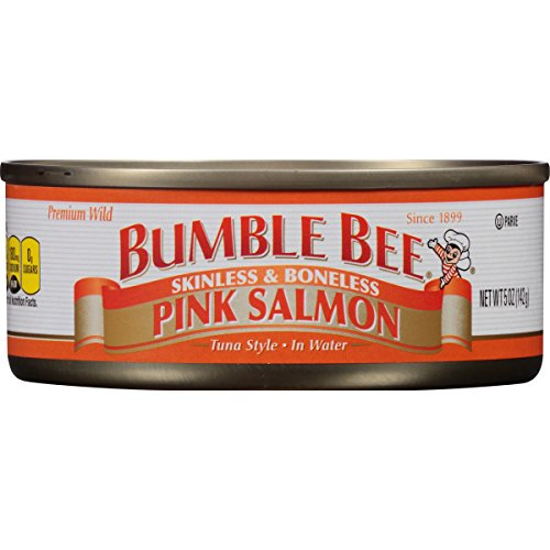 Bumble Bee Skinless and Boneless Pink Salmon In Water, 5 Ounce Cans, 12 Count