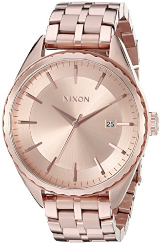 (Nixon Women's A934897 Minx Analog Display Swiss Quartz Rose Gold Watch)