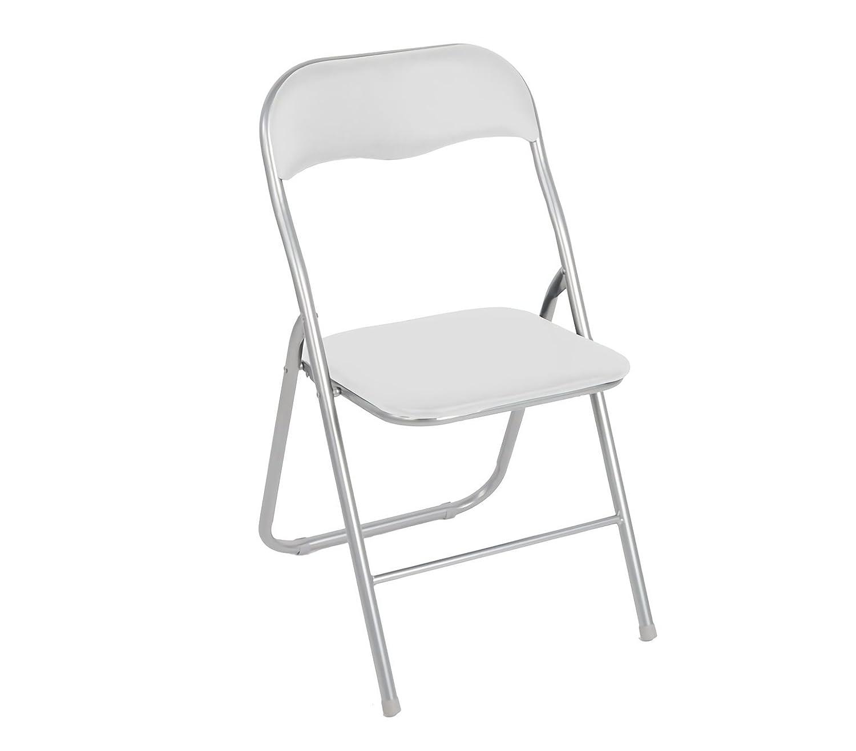 2008AN0816 Set de 4 sillas plegables mod.Lyon base metálica y ...