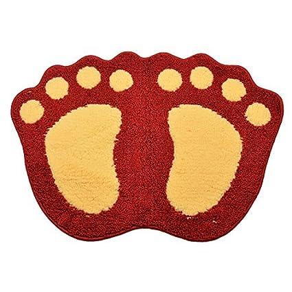 eDealMax Acrylon Pies dormitorios Forma antideslizante Suelo Alfombra alfombra de la estera Felpudo 64cm x 46cm