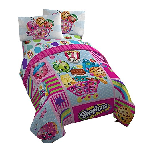 Shopkins Comforter and Full Sheet Set Girls Reversible Bedding