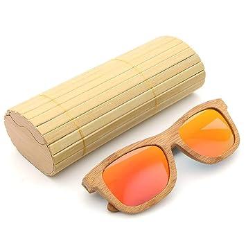 332PageAnn Classic Bamboo Polarized Vintage Bamboo Sunglasses para Hombres y Mujeres polarizadas con Recubierto Vintage Sunglasses