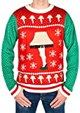 Men's Leg Lamp Major Award Sweater (Red/Green) - Ugly Holiday Sweater (Large)