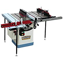 Baileigh TS-1020WS Professional Cabinet Style Table Saw with Full Working Station, Single Phase, 3 hp, 220V, 10""
