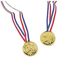 US Toy Plástico Estrella De Oro Ganador Medallas con Lazos (12)