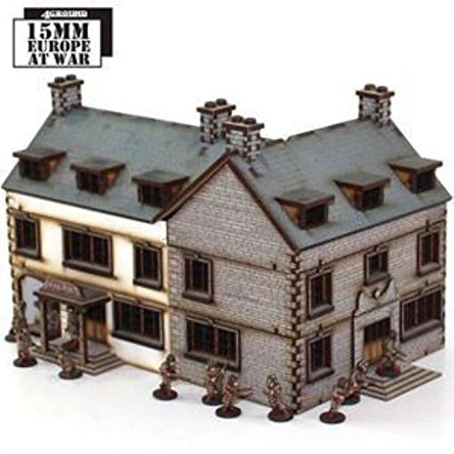 Europe At War - Buildings 15mm Corner Hotel (Pre-Painted)