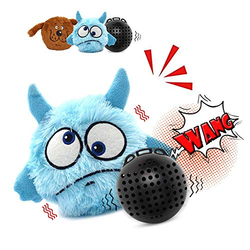 Heepark Dog Toys Interactive Plush Squeak Giggle Ball Automatic Shake Crazy Bouncer Jumping Activation Balls Moving Toy for Dogs Motorized Bouncing Exercise Electronic Toy for Prevent Boredom