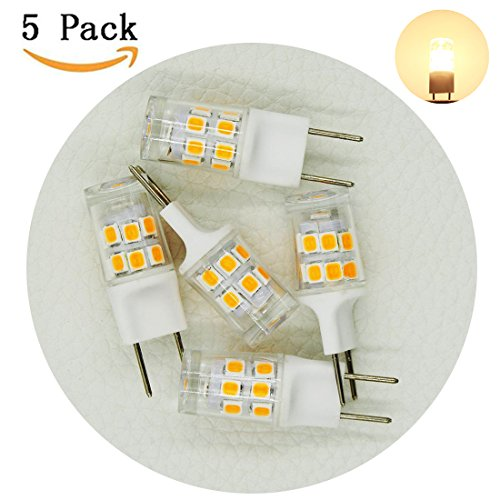 G8 Bi Pin ([5-pack] G8 LED Bulb, G8 Bi-pin JCD Type, 2700k Warm White AC110-130V, 2W replace 20W Halogen Xenon Replacement Light Bulb for Under-cabinet, Puck Lights (Not Dimmable))