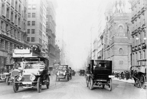 1913 photo New York City street scenes - 5th Avenue Vintage Black & White Pho - Street York New Scene