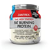 Zantrex Fat Burning Protein- High-Quality Formula for Max Fat Burning, Increased Energy, Achieve Weight-Loss Goals, Creamy Vanilla Bean, (1 lb. 2 oz.)