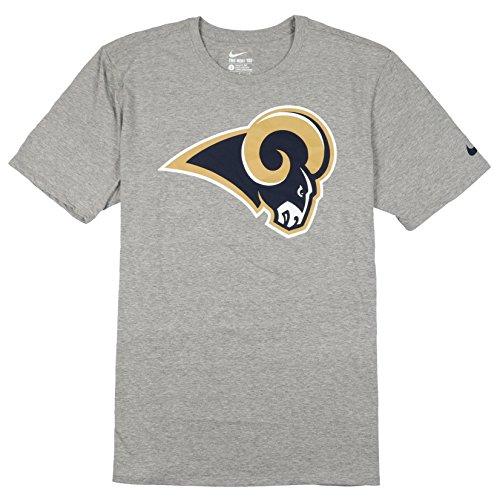 5623b852e61a Nike Men s Los Angeles Rams Mascot Logo T-Shirt Small Heather Gray