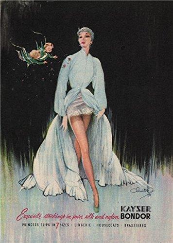 KAYSER BONDOR populismo. Medias de ropa interior sujetadores de algodón, 1951 de la impresión