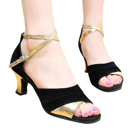 Zapatos de tacón Elegante para Mujer, Zapato tacón Grueso Fiesta Mujeres Zapatos Vestir Novia Baile Verano Sandalias Mocasines: Amazon.es: Zapatos y ...