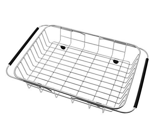 GTHUNDER Over Sink Basket Dish Drying Rack Stainless steel K