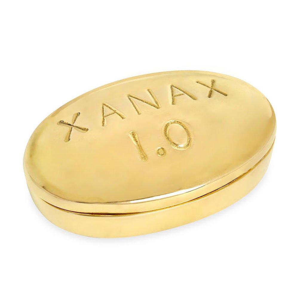 Jonathan Adler - Brass Pill Box - Xanax by Jonathan Adler