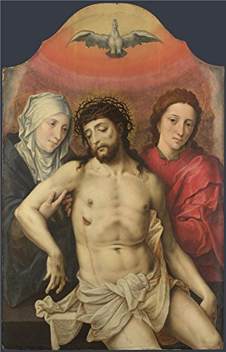 [Perfect Effect Canvas ,the High Quality Art Decorative Prints On Canvas Of Oil Painting 'Workshop Of The Master Of The Prodigal Son The Dead Christ Supported By The Virgin And Saint Jo ', 12 X 19 Inch / 30 X 48 Cm Is Best For Bar Decor And Home Artwork And] (Dead Poets Society Costume)