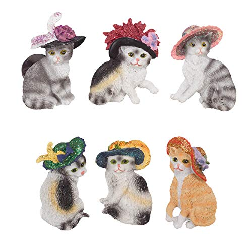 Cats with Hats Magnet Set of 6 -