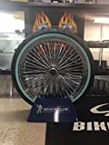 21 x3.5'' Chrome Mammoth 48 Fat Spokes Front Wheel With Whitewall Shinko Tire for Harley-Davidson Dual Disc - No - Rotors