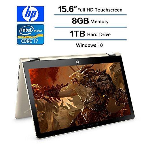 2018 HP Flagship Convertible 2-in-1 15.6 inch Touchscreen FHD IPS Laptop (1920 x 1080), Intel Core i7 8550U (Up to 4GHz), 1TB Hard Drive, 8GB Memory, 2GB Radeon 530 Dedicated, Win 10 Home