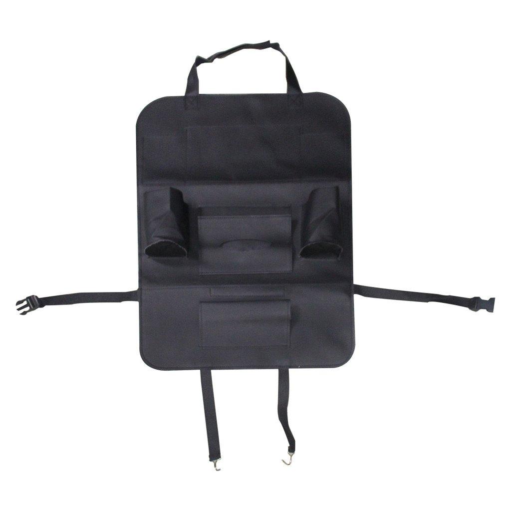 Storage Bottles Black Tissue Box YIOVVOM Pu Leather Car Seat Back Organizer Standard Car Seat Back Organizer,Multi-Pocket Travel Storage Bag Universal Use as Car Backseat Organizer for Kids Toys