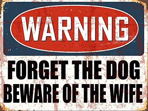 警告は犬を忘れて 金属板ブリキ看板警告サイン注意サイン表示パネル情報サイン金属安全サイン