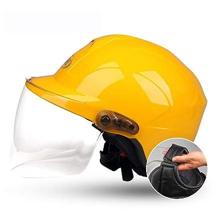 HJL Forro extraíble Cascos de Motocicleta para Hombres y Mujeres Protección eléctrica para el Invierno Four