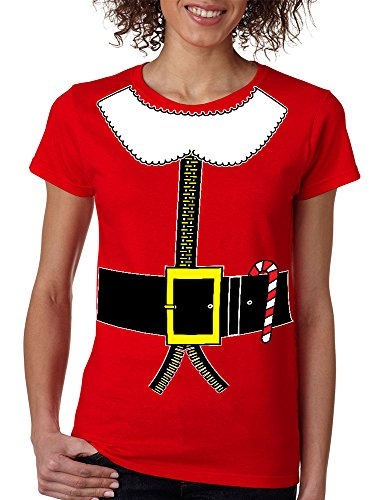 Allntrends Women's T Shirt Elf Suit Santa's Elves Christmas Tee Xmas Gift (L, (Santa Elf Suits)