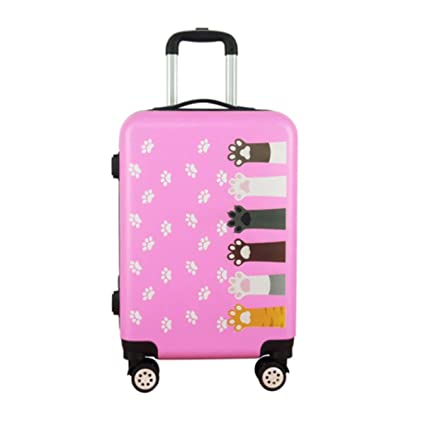 Color : Black Runtongshanghang Handsome Trend Password Box Suitcase Suitcase Korean Version of Male and Female Students Graffiti Trolley Universal Wheel 24 Inch