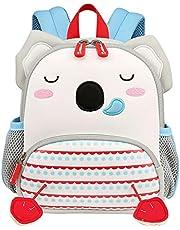 VIDOSCLA Cute Cartoon Preschool Backpack Anti-lost Kindergarten Book Bag for Toddler Girls Boys