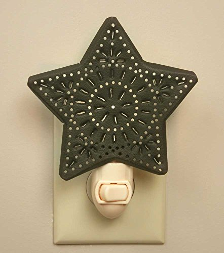 Punched Star Night Light - Rustic Brown ()