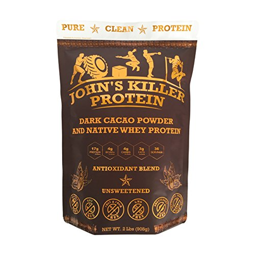 New - John's Killer Protein- Antioxidant Protein Blend. an Ideal Mix of Organic Cacao Powder & Our Native whey Protein. Non-GMO, Gluten & Soy Free. Pure Chocolate Protein Without Any sweeteners.