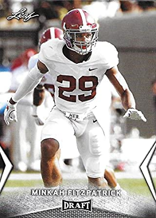 super popular 8045e c77fd Amazon.com: 2018 Leaf Draft #43 Minkah Fitzpatrick Alabama ...