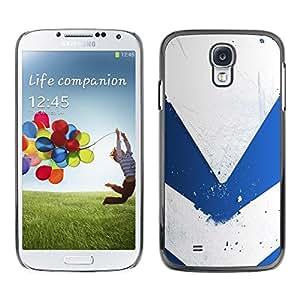 Be Good Phone Accessory // Dura Cáscara cubierta Protectora Caso Carcasa Funda de Protección para Samsung Galaxy S4 I9500 // Blue & White Minimalist