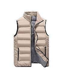 Maca.lina Men's Vest Down Sleeveless Jacket Warm Down Lightweight Vest