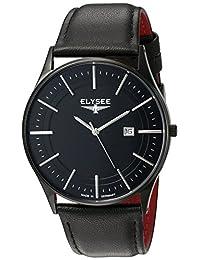 ELYSEE Men's 83017L Classic-Edition Analog Display Quartz Black Watch