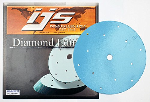 IJS Diamond Edition Professional Lapidary Blade - 8-inch diameter, 5/8-inch arbor, 0.022-inch thick, 0.030-inch kerf