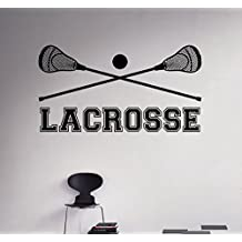 Lacrosse Sticks Wall Decal Vinyl Sticker Sport Poster Home Interior Art Decor Ideas Bedroom Living Room Office Removable Housewares 4(lcs)