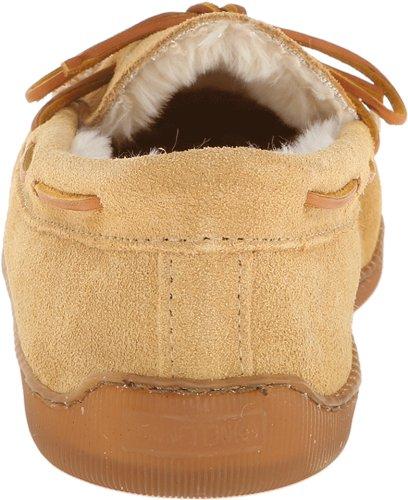 Beige loafers clair 47 Hardsole Lined Mocassins Minnetonka Pile 3901w homme Beige marron X1gxq8H
