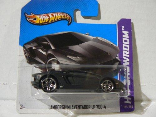 Hot Wheels HW Showroom Lamborghini Aventador LP 700-4 Black on Short Card