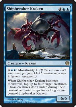 Magic Gathering Singles - Magic: the Gathering - Shipbreaker Kraken (63/249) - Theros