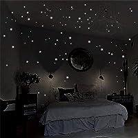 407Pcs Wall Luminous Stickers Home Decor Glow In