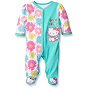 Hello Kitty Baby Flower Print Coverall, Cockatoo, 3-6 Months