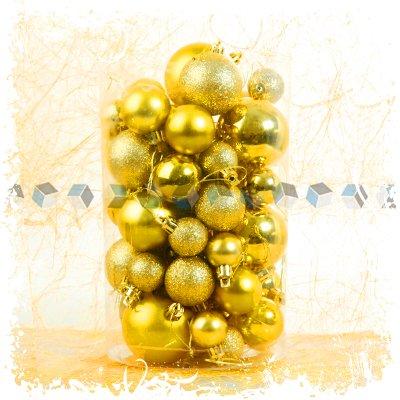Christbaumkugeln Gelb.Amazon De 50stück Weihnachtskugeln Christbaumkugeln Hell Gelb Top