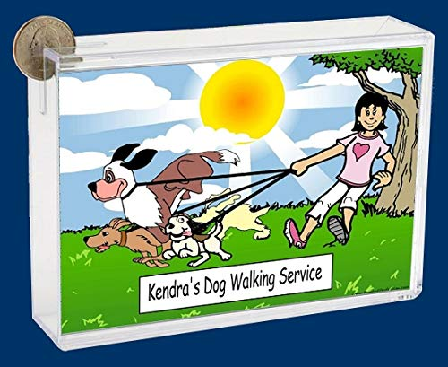 Personalized NTT Cartoon Side Slide Frame Gift: Dog Enthusiast Female Gift, Dog Lover, Dog Walker, Rescue