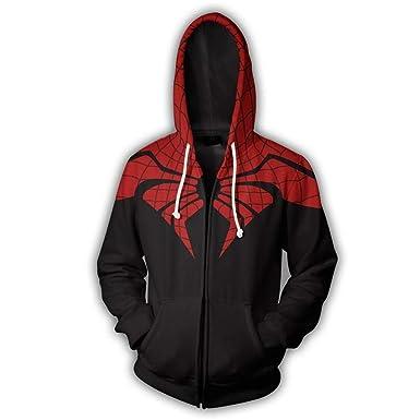 Unisex Sudadera con Capucha 3D Anime Gráfico Impresion Sudaderas Spiderman Hoodie con Bolsillos Drawstring: Amazon.es: Ropa y accesorios