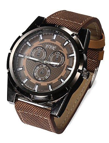 y g y Hombre relojes Vintage tira de piel Leisure reloj con relojes reloj de cuarzo (Varios