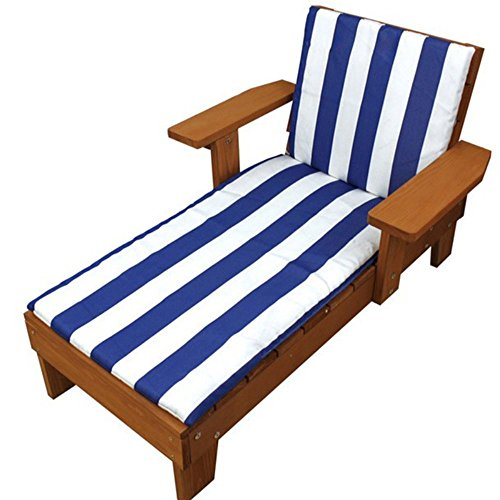 Homewear Children's Chaise Lounge Chair (2 Piece), Red Wood