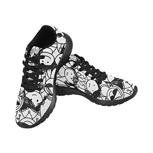 Interestprint Femmes Jogging Running Sneaker Léger Aller Facile Confort De Marche Sport Athletic Chaussures Multi 5