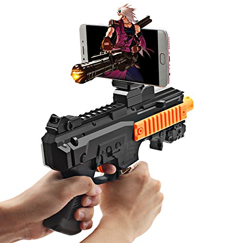 Halloween Toy Guns (Autocastle Kids AR Game Gun Toy,AR Argumented Reality IOS Game controller,AR Toy Video Game System with 360 Degree AR Games for Iphone&Android,Best Xmas Halloween Birthday Gift Ideas)