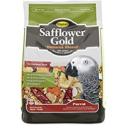 Higgins Safflower Gold Natural Food Mix for Parrots 3lbs